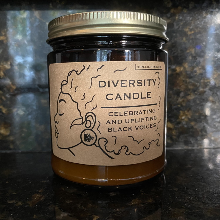 Black History Month Candle